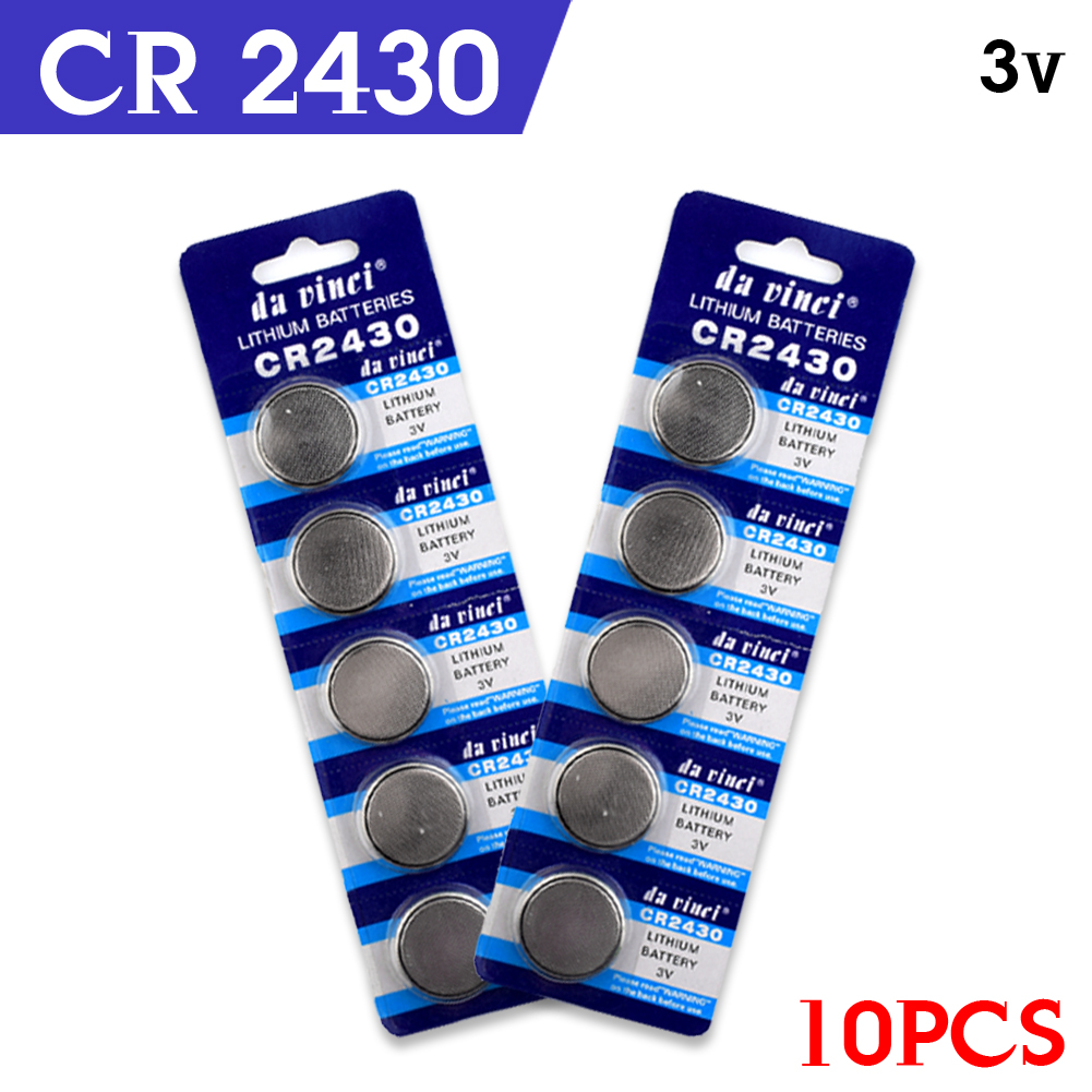 YCDC 10PCS 3V DL2430 BR2430 ECR2430 CR2430 Watch Button Coin Cells Lithium Battery Watch ...