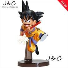Free Shipping Dragon Ball Z Figures Toys 16cm Sun Goku Childhood Edition PVC Action Figures Doll PVC Model Toys