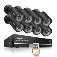 SANNCE 8CH Security Camera System 1080N DVR Reorder and (8) HD 1280TVL Outdoor CCTV Cameras