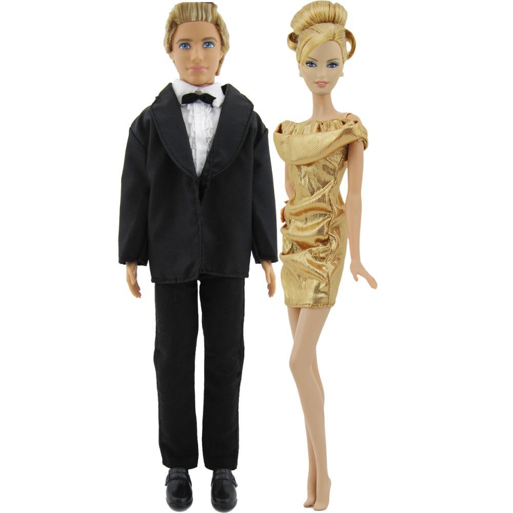 1 Satz Puppe Kleidung Bräutigam Hochzeit Anzug für Ken Puppe accs Babypuppen & Zubehör Puppen & Zubehör