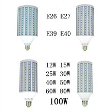 LED Bulbs Light 12W 15W 25W 30W 40W 50W 60W 80W 100W E26 E27 B22 E39 E40 Corn lamp 220V 110V CFL Spotlight Warm Cold White 3pcs free shipping 40w 50w 60w 70w 80w 90w 110w led bubble ball bulb cool white led e27 e40 base low power low heat