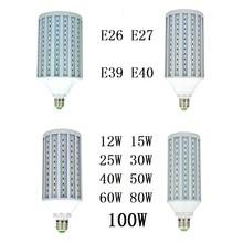 LED Bulbs Light 12W 15W 25W 30W 40W 50W 60W 80W 100W E26 E27 B22 E39 E40 Corn lamp 220V 110V CFL Spotlight Warm Cold White 3pcs стоимость