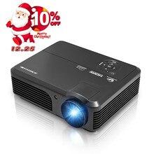 Caiwei A6 4200lm HDMI USB VGA ТВ домашний проектор LED 1080 P HD видео ЖК-дисплей LED Proyector Бимер домашний Театр