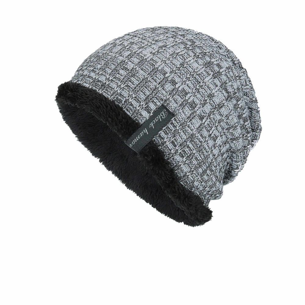43e8bfd77 FEITONG Unisex Knit Cap Hedging Head Hat Beanie Caps Winter Keep Warm  Outdoor Fashion Hats Cashmere Casual 5 Solid Colors caps