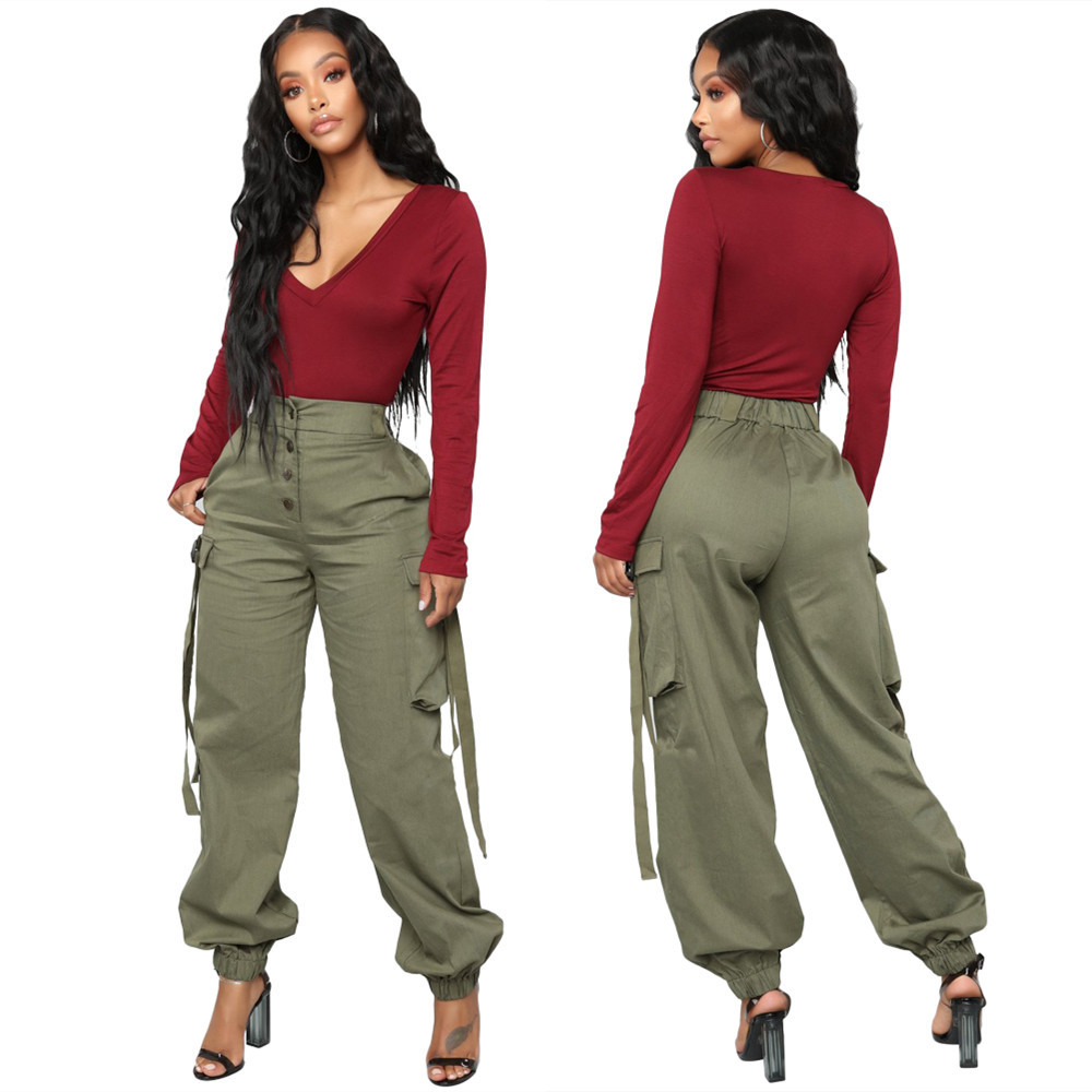 chic chic cute cargo pants women  female womens fall classics comfort outdoor capris ladies new winter streetwear  pant pocket