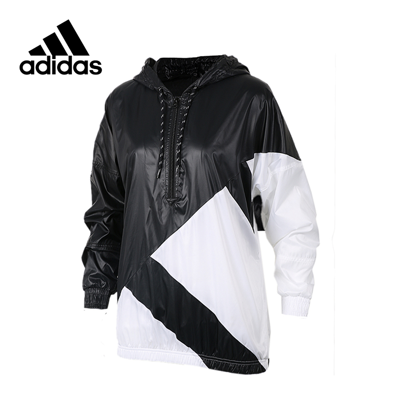 New Arrival Official Adidas Women's Jacket Breathable Hooded Sportswear original new arrival official adidas neo women s knitted pants breathable elatstic waist sportswear