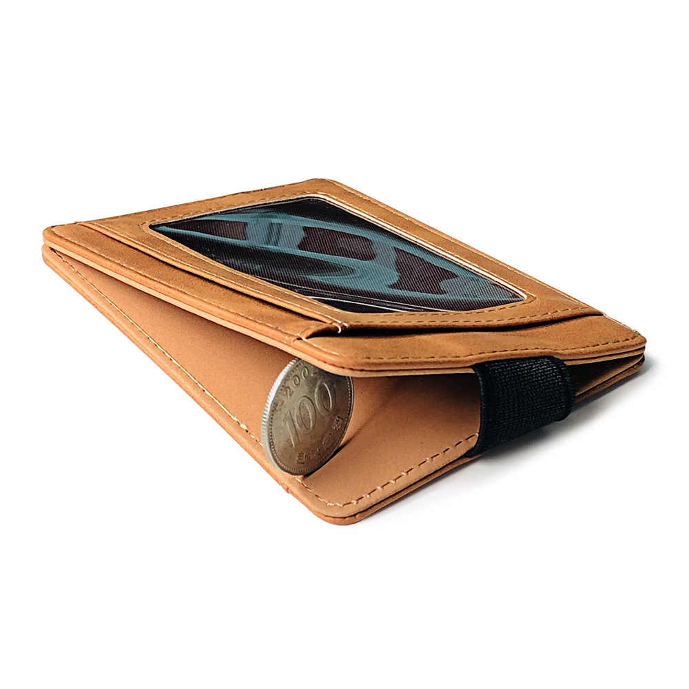 KUDIAN BEAR ผู้ชายหนังบัตรเครดิต VINTAGE Designer กระเป๋าเดินทางกระเป๋าสตางค์รถ-สำหรับเอกสาร BIH112 PM49