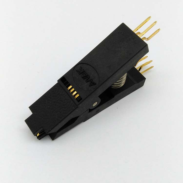 BIOS SOP8 SOIC8 Bent Original Test Clip Pin Pitch 1.27mm For EPROM Programming Clip Suitable for Dupont Line g582n sop 8