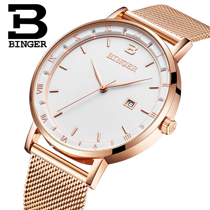 Men Watches Switzerland BINGER Luxury Brand Watch Men Quartz reloj hombre Japan Miyota Movement Waterproof Wristwatches