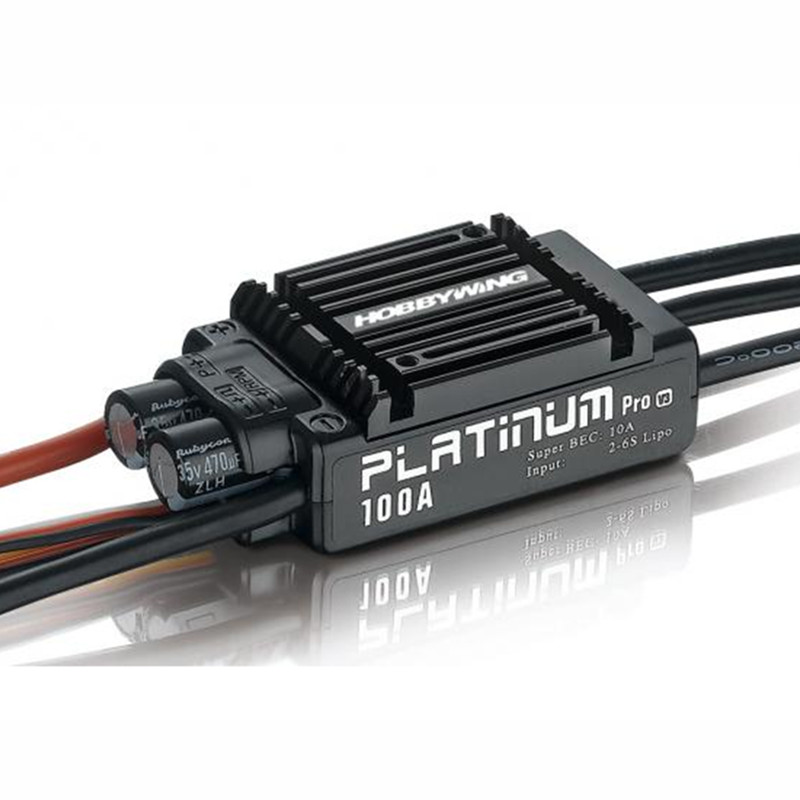 Tarot-RC HobbyWing Platinum 100A V3 RC Model Brushless ESC for Multicopter For Align TREX 550 600 700 RC Helicopter Airplane hobbywing platinum 50a v3 high performance brushless esc for rc helicopter fixed wing multi rotor