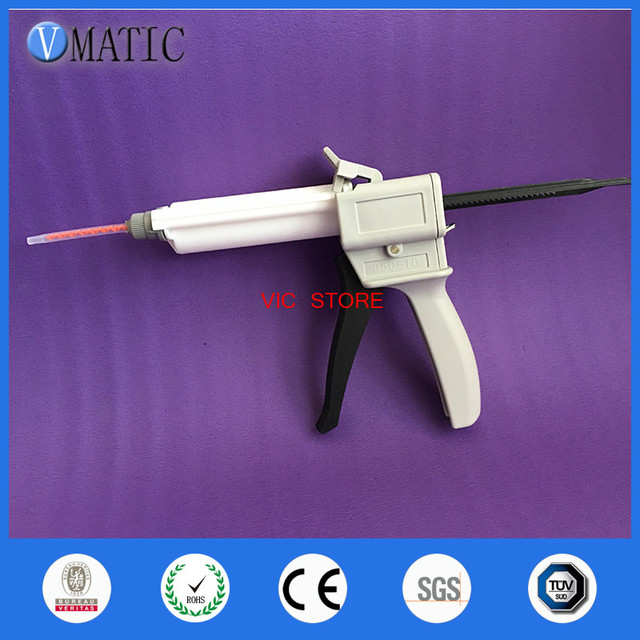 Free Shipping Dental Impression Mixing Dispenser Dispensing Caulking Gun 50ml/cc 4:1 / 10:1