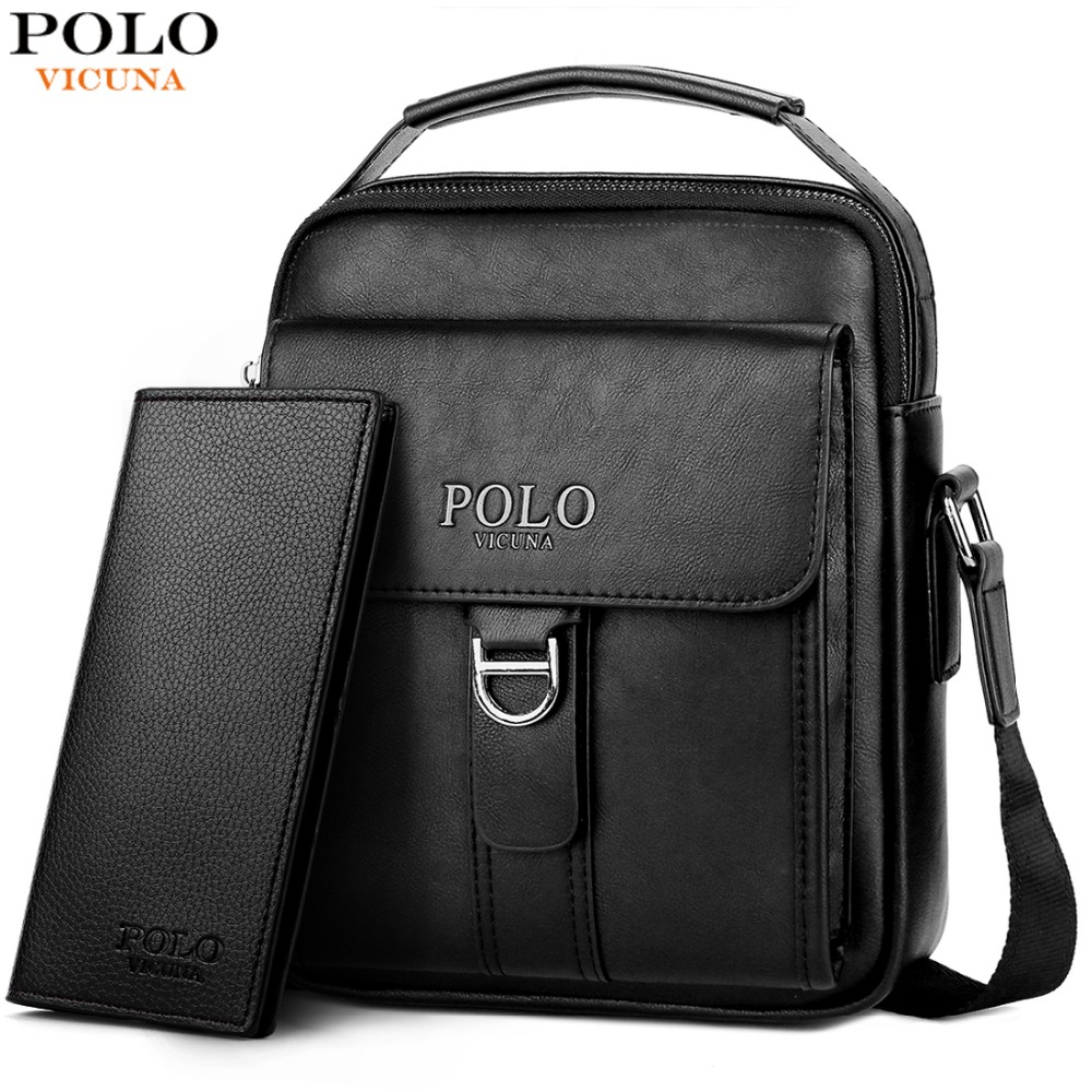 6a1230d22ef2 VICUNA POLO New Arrival Magnetic Buckle Open Men s Business Messenger Bag  Large Capacity Soft Leather Travel