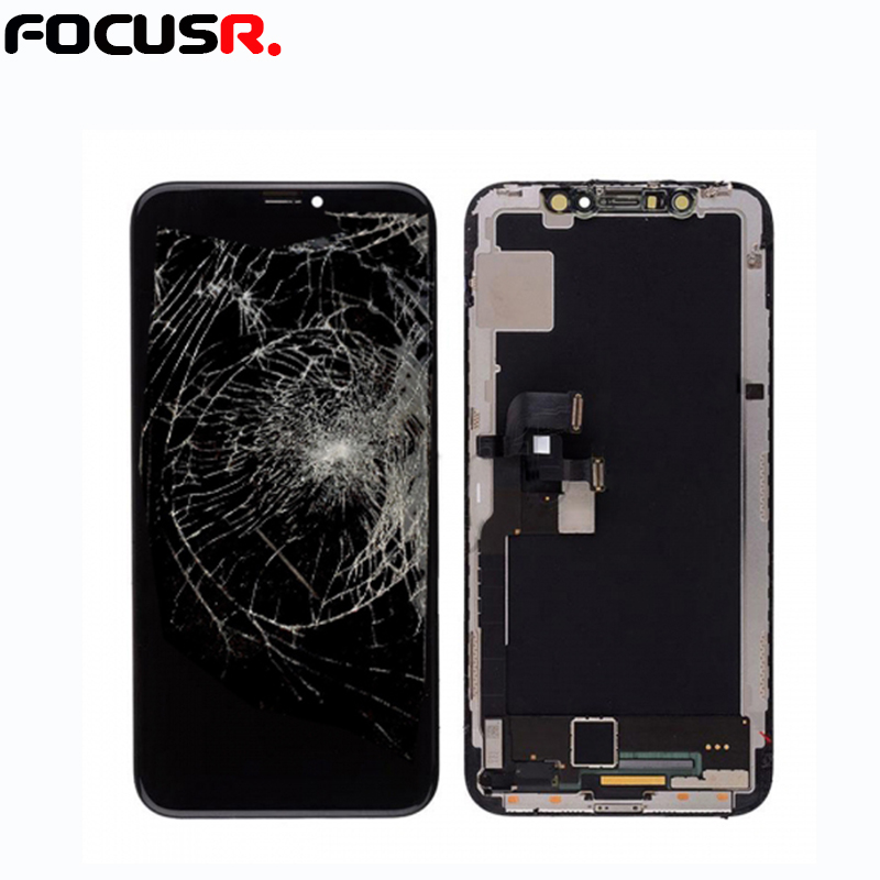 Practice LCD screen assmebly with frame for iphone X for frame and glass separating practice