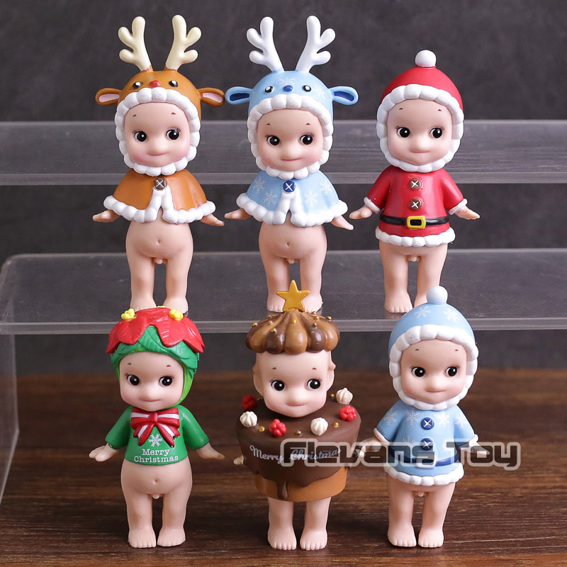 цена Sonny Angel 2018 Christmas Series Mini PVC Action Figures Collectible Model Toys Dolls 6pcs/set