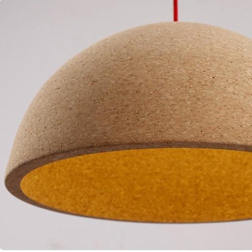 Modern Contracted Nordic Ikea Rural Cork Lamp Round Creative