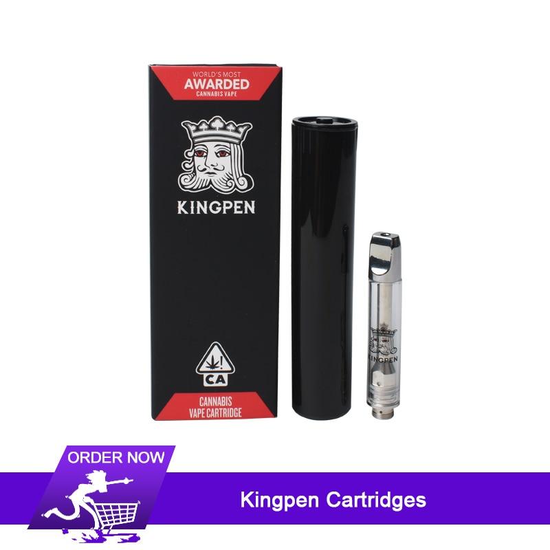 2019 new 10pcs Kingpen Cartridge Vape Tank Gift Box Package 1 0ml Ceramic  Coil Pyrex Glass Vape CBD Atomizer VS king pen cart