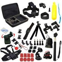 Accesorios para cámara Gopro hero 9, soporte negro para Go pro 7 6 5 4 Session Trípodes para Yi 4K SJCAM SJ4000 EKEN H9 AKASO DBPOWERCamera