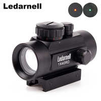 RifleScope Sight 1x40 Red Dot with 11mm/20mm Picatinny Weaver Rail Mount of Hunting Scopes for Rifle