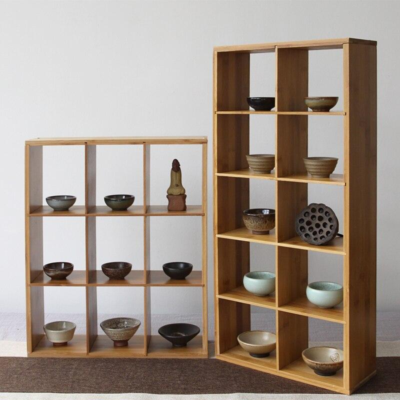 bamboo storage holders sundries racks cup holder three layer handmade shelves floor type shoes rack diy assembly shelf