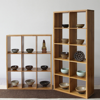 bamboo storage holders sundries racks cup holder three layer handmade Shelves floor type Shoes rack DIY Assembly shelf