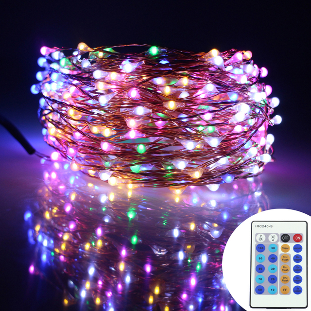 49Ft 15m 300Leds Copper Wire LED String Lights Christmas Starry ...
