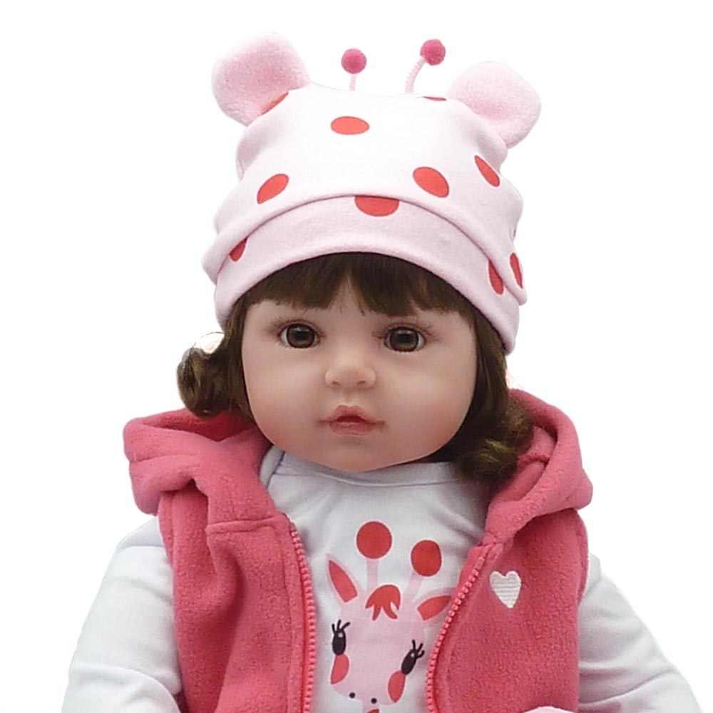 23 дюйма 57 см Reborn Baby куклы живые реалистичные настоящий парик для кукол волосы реалистичные силиконовые дети Reborn Младенцы принцесса девочки игрушки подарок