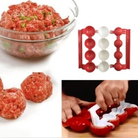 DIY Useful Plastic Meatballs Fish Balls Burger Maker Mold Homemade Stuffed Meatballs Baller Making Machine Kitchen