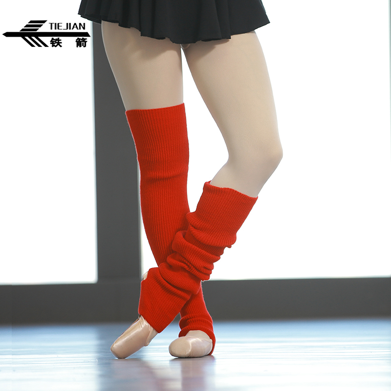 TIEJIAN Professional Dance Leggings Socks Women Warm Elasticity Ballet Socks Children Latin Dance Practice Wool Leggings Sock 47