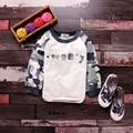 ГОРЯЧИЕ ПРОДАЖИ jchao детской одежды baby clothing 2017 моды новый дизайн камуфляж печати прохладный 2-7y мальчики девочки с капюшоном кофты