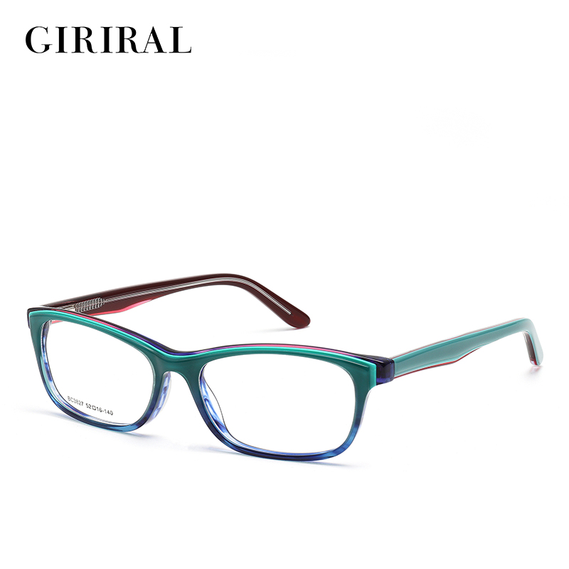 Acetate Eyeglasses Frame : Acetate women eyeglasses frame prescription designer brand ...