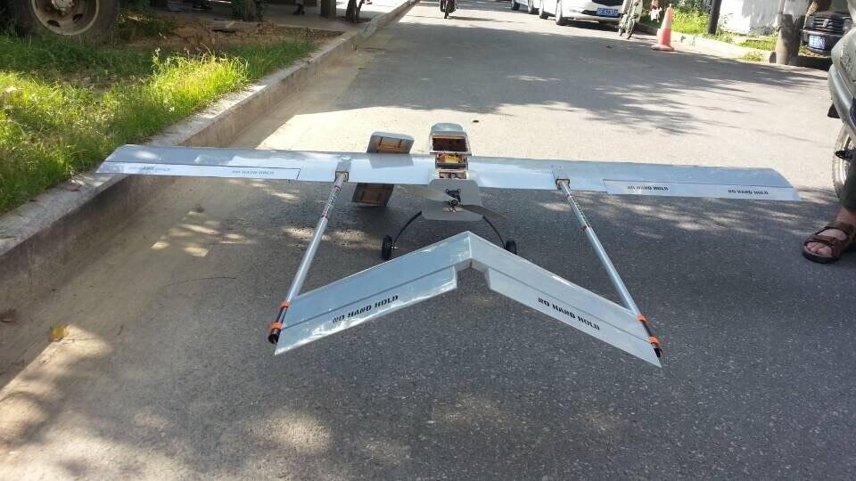Nowy przyjazd DIY drewna balsa 2000mm rozpiętość skrzydeł FPV samolot RQ 7 zabawka sterowana radiem samolot w Samoloty RC od Zabawki i hobby na  Grupa 1