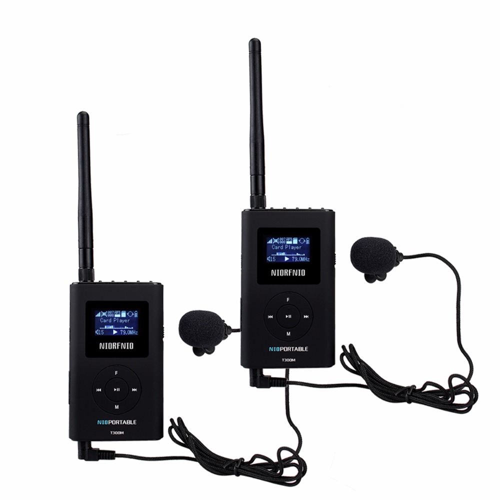 2PCS NIORFNIO Handheld Portable Radio 0.3W FM Transmitter MP3 Broadcast Radio Transmitter For Car Meeting Tour Guide Y4409A dhl shipping atg100 portable mini meeting tourism teach microphone wireless tour guide system 1transmitter 15 receivers charger