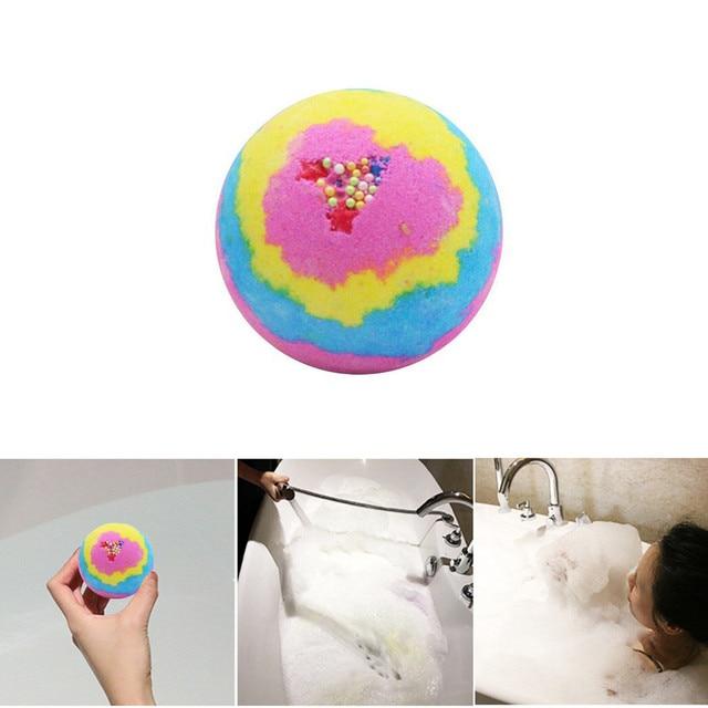 Rainbow Rose Bathing Bombs Explosion Ball Fizzy Spa Moisturizes Bubble bath bomb ball sali da bagno bombe de bain wholesale