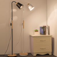 A1 The creative personality of modern solid wood floor lamp simple living room bedroom study remote Delicate floor lamp MZ19