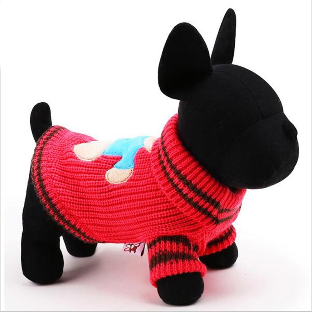 Fashion Teddy Bear Printing Dog Sweater Winter Warm Knitting Round
