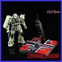 Modelo FANS en stock METAL soldado metal construir MB gundam 1/100 verde zaku II aleación robot acción figura
