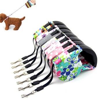 Correa ajustable automática de 5 M para mascotas, correa para perro, extensión retráctil para cachorros que caminan, correas para perro para exterior, Collar de cuerda