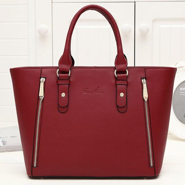 DongHong Popular Top-handle Bags Designer Handbags High Quality genuine leather Women Totes bolsos sac a main femme de marque