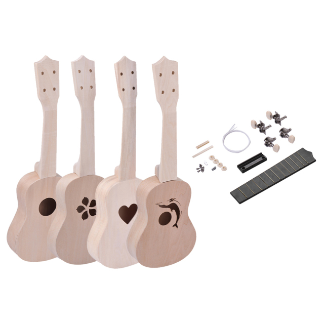 21 inch Basswood Body Ukulele DIY Kit