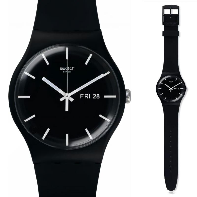 Swatch 원래 쿼츠 시계 패션과 레저 방수 여성 시계 suob720-에서수정 시계부터 시계 의  그룹 1