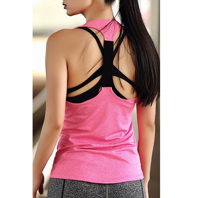 Yoga Fitness & Body Building Womens Plain Color Tank Top Vest Girls Sleeveless Yoga Gym Sports Shirts Xs-xl