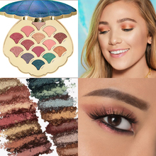 14 Color Mermaid Shell Eyeshadow Pallete Shimmer Matte Natural Pigmented Glitter Palette Cosmetic TartooMakeup
