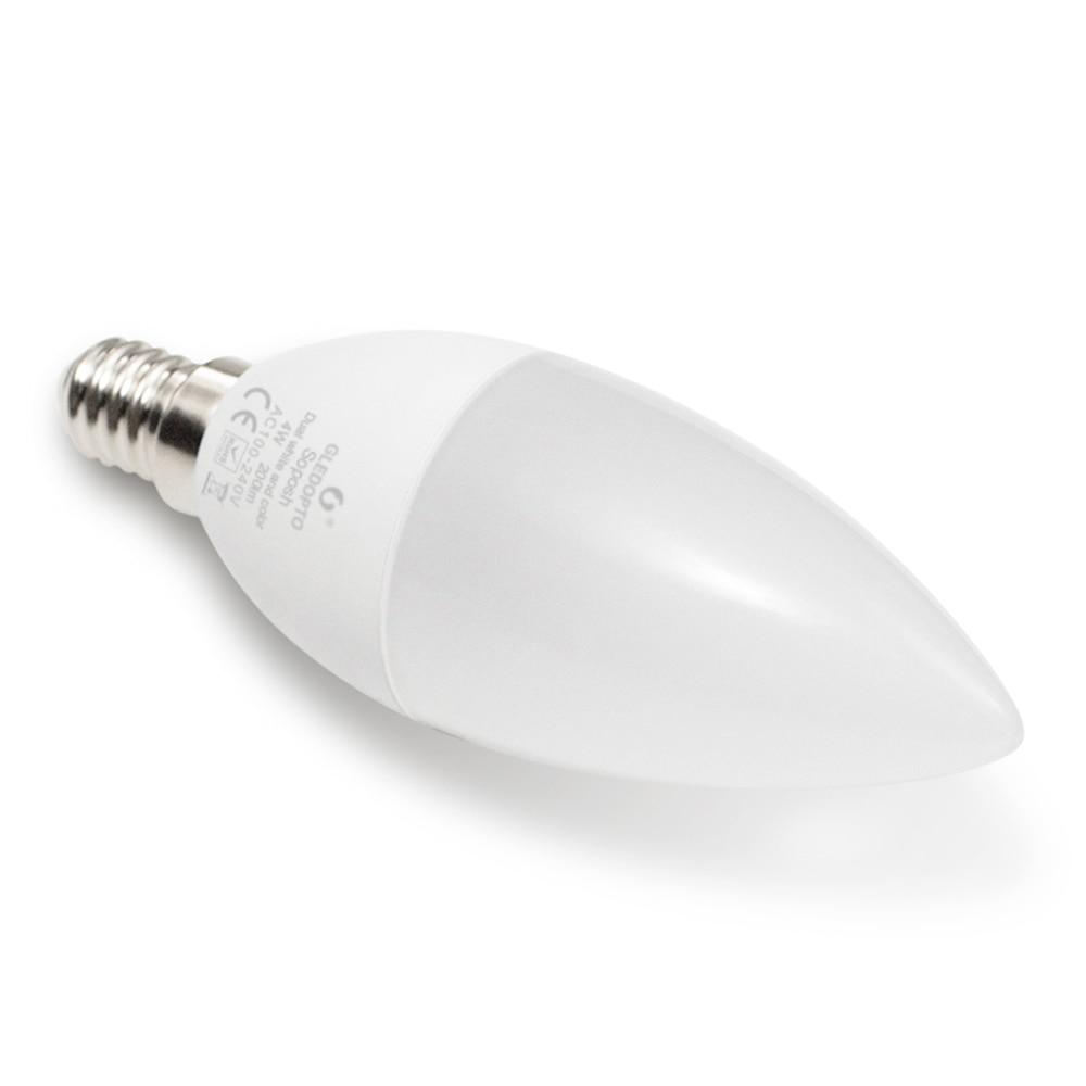 Купить с кэшбэком ZIGBEE LED Bulb E14 E12 4W RGBCCT Candle Light ZLL Smart APP Control Link AC 110V 220V 230V LED Lamp Work with Amazon Echo Plus