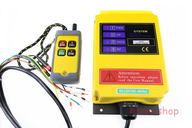 4 channels f21-2s electric hoist remote control industrial wireless remote  control crane switch 24vdc