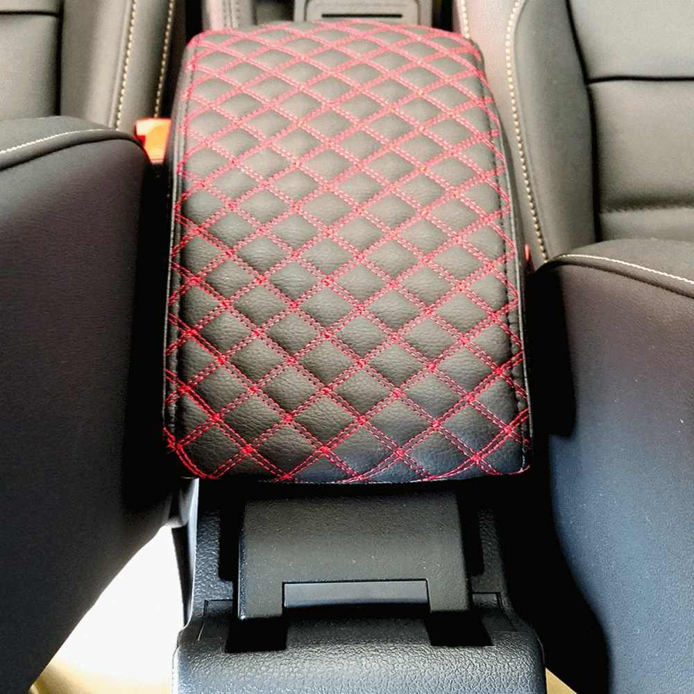 AAGIILEEYO Car Armrest Cover,PU Leather Arm Raised Pad,Center Console Armrest Cushion Pad for Jeep,Toyota,Honda,Ford F150.Ram Car SUV Truck,Black