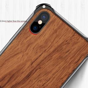 Image 4 - Suntaiho Luxe Hout Metalen Frame Case Voor Iphone Xs Max Case Voor Iphone 7 Plus Telefoon Case Xr X 7 8 Beschermhoes Voor Iphone 8 Plus