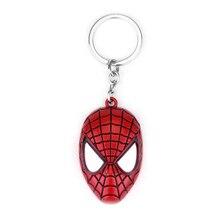 Супер герой Человек-паук брелок держатель для ключей для мужчин брелок Золотой Серебряный цветной брелок кольцо Человек-паук Автомобильная сумка Подвески вечерние сувениры подарок