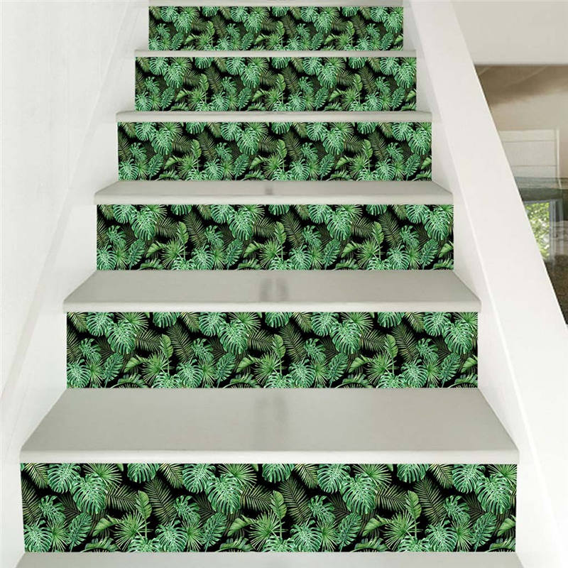 Wall Print Sticker 3D Simulation Stair Stickers Waterproof Wall Sticker DIY Home Staircase Decoration Sticker Fashion Hot New F7