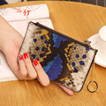 2016 new Snake Lady purse female short paragraph Korean students cross zipper Mini Wallet Coin bag bag