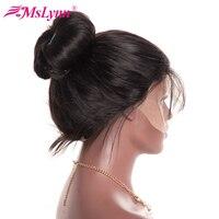 360 Синтетический Frontal шнурка волос Парик сырье и индийские волосы прямые Синтетические волосы на кружеве Человеческие волосы Искусственные...